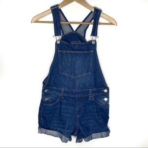 Old Navy Girls Overall Denim Shorts Size XL (14)